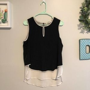 Kenneth Cole Chic Apron Tank Blouse